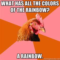 I love anti joke chicken!