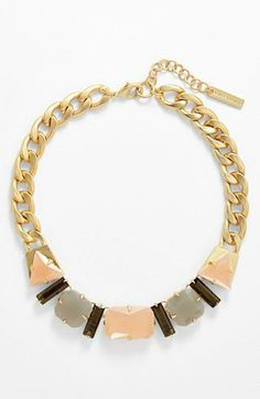 Pretty pastel statement piece | Necklace by Vince Camuto