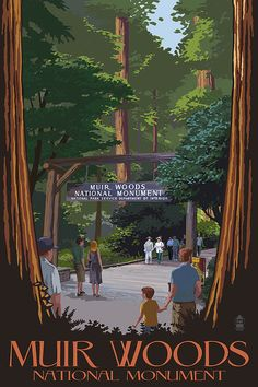 Muir Woods National Monument California Entrance Art