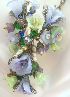 Diane Rose Victorian Floral Necklace Made to Order by LunaEssence, $165.00