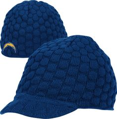 san diego chargers knit hat, cuz it's friggin cold in #san diego now :/