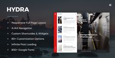 Hydra - Responsive WordPress Blog Theme