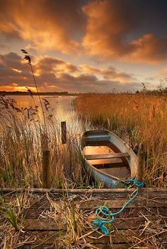 "crescentmoon06:    ""Old Boat, Strumpshaw Fen, Norfolk"" Photographic Prints by Ian Flindt 