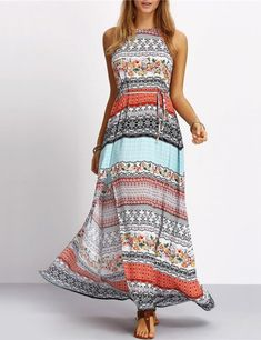A lovely patterned maxi dress like this is an elegant and affordable outfit for the tennis tournament. | What to Wear to Wimbledon