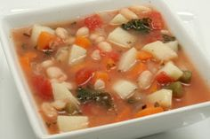 White Bean, Kale, and Vegetable Soup - Lots of color. Tons of flavor. www.ultimatedanielfast.com