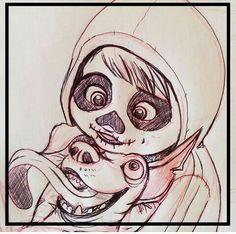 Miguel rivera y Dante de coco Pixar