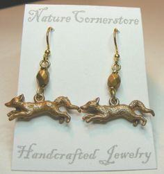 Red Fox on the Run earrings | NatureCornerstore - Jewelry on ArtFire