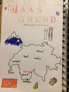 Travel journal, Switzerland sketch