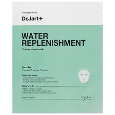 The Ultimate Dry Skin Products | Dr. Jart Water Replenishment Cotton Sheet Mask