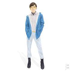 rainy day ☔️💧☂  You must have a rain coat .  Snap Illustration   By @wow_hsuan   #rain #raincoat #illustration #jianjian #ootd #instagood #instart #plainme_snap #coast #ramonshoptaiwan #glasses #yellow #blue #taiwan #shoses #menwear #fashion #lookbook #見見