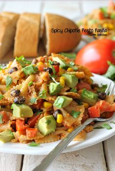 Spicy Chipotle Pesto Pasta