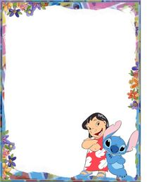 free printable stationery paper Lilo and Stitch