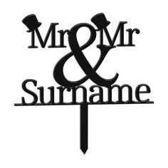 Mr & Mr Tophat Personalised