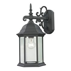 Spring Lake 1 Light Outdoor Wall Sconce In Matte Textured Black 8601EW/65