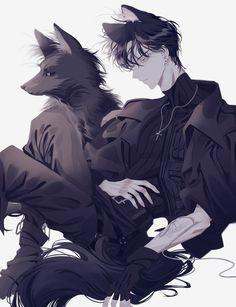コミュニティーウォールの写真 - Everything About Anime Dark Anime Guys, Cool Anime Guys, Hot Anime Boy, Handsome Anime Guys, Anime Boy Hair, Anime Neko, Anime Wolf, Kawaii Anime, Fan Art Anime
