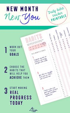 New month is round the corner, what habits will you start this month? This daily habit tracker printable will help you stay on track working towards your goals.... This WILL be the month you do that thing!