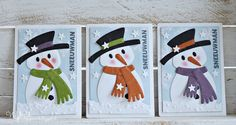 Na lange tijd maar weer eens een serie ATC cards.  Deze keer de Sneeuwman!       serie: Sneeuwman 1-2-3  collectables: COL1413 (Eline's snow...