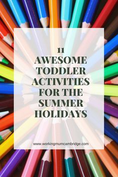 11 Awesome Toddler Activities for the Summer Holidays. Fun easy ideas and a low cost for preschoolers to enjoy! Sensory Activities, Educational Activities, Preschool Activities, Toddler Play, Toddler Preschool, Learning Through Play, Kids Learning, Kids And Parenting, Parenting Hacks