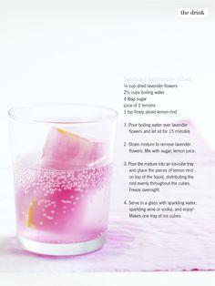 Lavender Lemonade Cubes