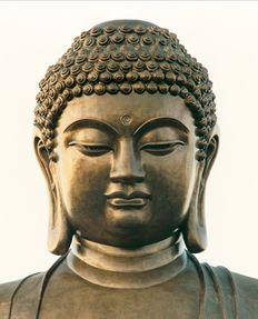 """With a face like a full moon...""  Po Lin Monastery"