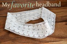 Crochet Trim Headband Tutorial...would be fun to dye some too!