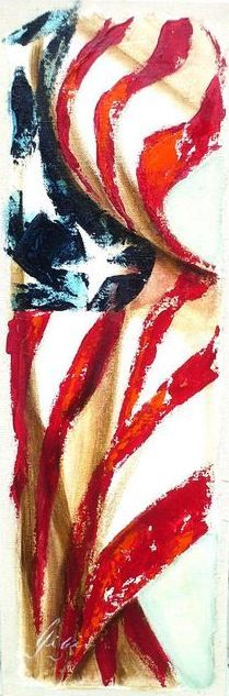 American Flag Art  American Flag Art Americana Wall Decor Old Glory Patriotic Pictures Veterans American Artist Stars and Stripes Interior Design Ideas Famous Artist