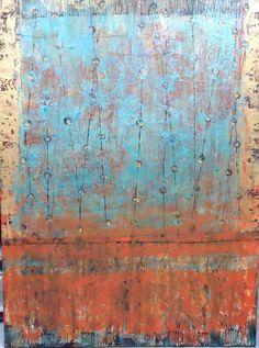 Sultan's Rug, 48 x 36, plaster / paint / glaze on canvas by Debra Corbett at a Scottsdale art gallery