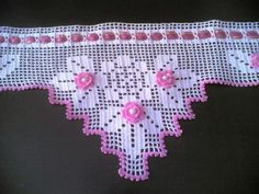 Shrink your URLs and get paid! Crochet Lampshade, Crochet Curtains, Crochet Pillow, Crochet Art, Crochet Home, Thread Crochet, Love Crochet, Crochet Doilies, Crochet Stitches