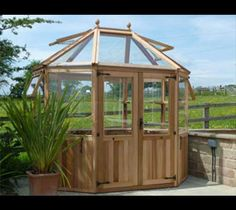 Stramshall Cedar greenhouse fitted with autovents