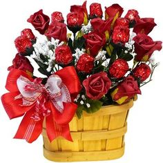 Sweetheart Chocolate Rose Candy Bouquet  (Sweet n Silky) $50