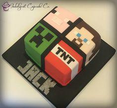 - Minecraft World Minecraft Torte, Minecraft Birthday Cake, Easy Minecraft Cake, Minecraft Crafts, Minecraft Skins, Minecraft Cupcakes, Minion Cupcakes, Creeper Minecraft, Pastel Minecraft