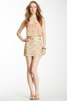 Chan Luu Embroidered Mini Skirt by Non Specific on @HauteLook