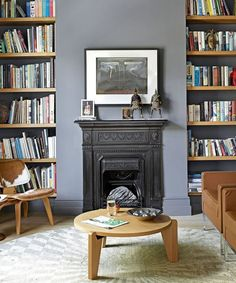 Colour is enormously evocative. Discover how living room paint is the key to establishing the style, mood and personality of your decorating scheme Alcove Ideas Living Room, Living Room Shelves, Living Room Paint, Living Room Grey, Living Room Designs, Living Room Decor, Living Rooms, House Shelves, Oak Shelves