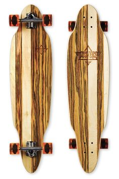"Dusters California   Longboards and Cruiser Skateboards   ScoopScoop Brown/Apple wood   37.5"" x 9.5""   25.75"" Wheelbase"