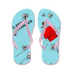 19bd0fdc1efcdd Snoopy the Flying Ace Flip Flops on CafePress.com
