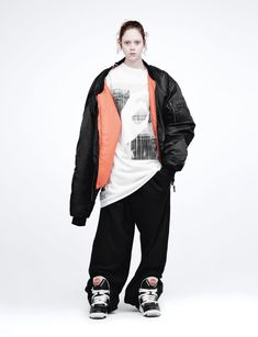 Natalie Westling wears jacket Vetements autumn/winter T-shirt Jogging bottoms Martine Rose autumn/winter Photography Willy Vanderperre, Fashion Director Alastair McKimm. Dope Fashion, Fashion Shoot, Editorial Fashion, Street Fashion, 2015 Fashion Trends, 2015 Trends, Fashion Ideas, Vintage Jacket, Girly Outfits