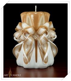 Cut & Curved Candle by Art Candle
