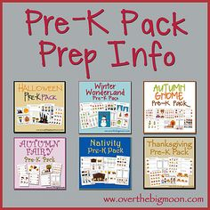 Pre-K Pack Prep Information!  Learn the way to prepare your Pre-K Packs, so they can be used over and over and stored easily and organized!