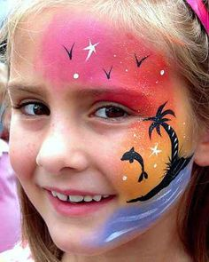 sunset face painting