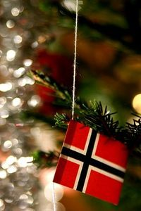 The Role of Food in Norwegian Holidays.. My mom has these flags all over her Christmas tree:)..She is truly proud of her Norwegian heritage and passes it on to all of us.. Thanks, Mom@helen armstrong