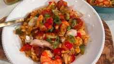 Chicken and prawn jambalaya