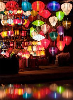 Hoi-An lanterns (Vietnam) Hoi An, Vietnam Voyage, Vietnam Travel, Beautiful World, Beautiful Places, Just Dream, Angkor Wat, Japanese Culture, Belle Photo