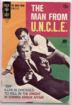 Illya lets suited up in issue of the Man From U. comic book series from July 1968 Old Comics, Vintage Comics, Classic Books, Classic Tv, Pulp Fiction, Science Fiction, Man From Uncle Tv, Comic Book Covers, Comic Books