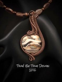 Copper Wire Woven Pendant with Handmade by Traebetruedesign