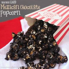 Glazed Mexican Chocolate Popcorn is a sweet, crunchy snack that has a bit of chocolate and just a little kick. As an added bonus, it's healthy, too!