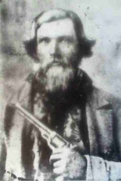 """WHAT A CHARACTER! """"A Mountain Man &  His Gun Are Rarely Separated""""  Martin Van Buren Shultz, 1832-1864 joined the Confederate Army in 1862, Pvt. Company I 2nd Tennessee Cavalry. Died 3-5-1864 Camp Morton Indiana. Son of George Benton Shultz Sr. & Mary Ward  Martin married Margaret V. DUNSMORE daughter of William DUNSMORE and Mary """"Mossy"""" CRUTCHFIELD on 13 Nov 1850 in Claiborne Co, TN. Margaret was born on 31 Aug 1834."""