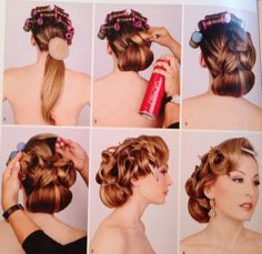 Lizzie Liros's step by step hairstyle from her step by step guide Bridal hair Couture book Vol 1 ❤ #shiannaayoubi