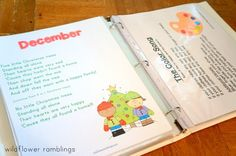 Preschool Circle Time Notebook - Wildflower Ramblings