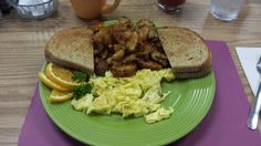 Probably the best Breakfast in NJ. Very Basic here, Scrambled Eggs, Home Fries with Rye Toast. They also serve you a homemade biscuit that is awesome!