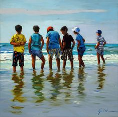 """A Painting Today: """"The Boys of Summer"""""""